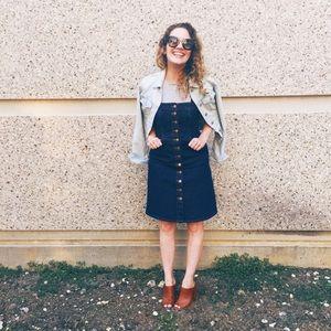 Madewell Matilda Button Front Denim Dress